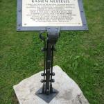 kovaný stojan-Kámen neštěstí -Sušice